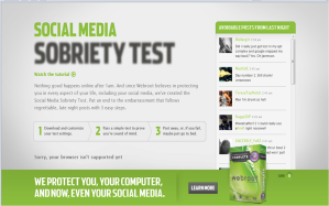 webroot social sobriety test